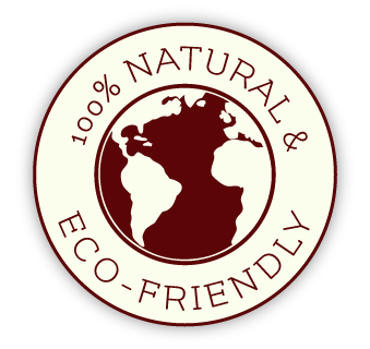 100 percent natural and eco friendly logo