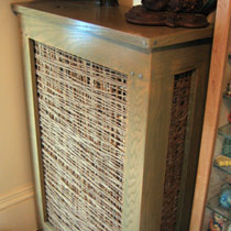 Brown mesh style radiator cover